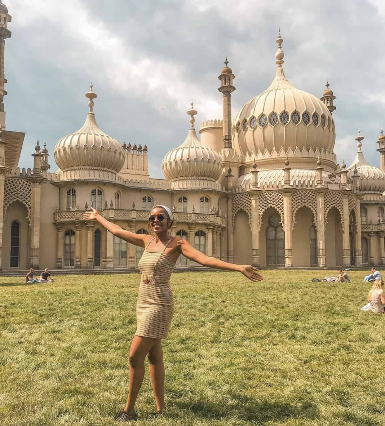 Candace at Brighton Pavilion, Brighton, U.K - 23-years-old-woman