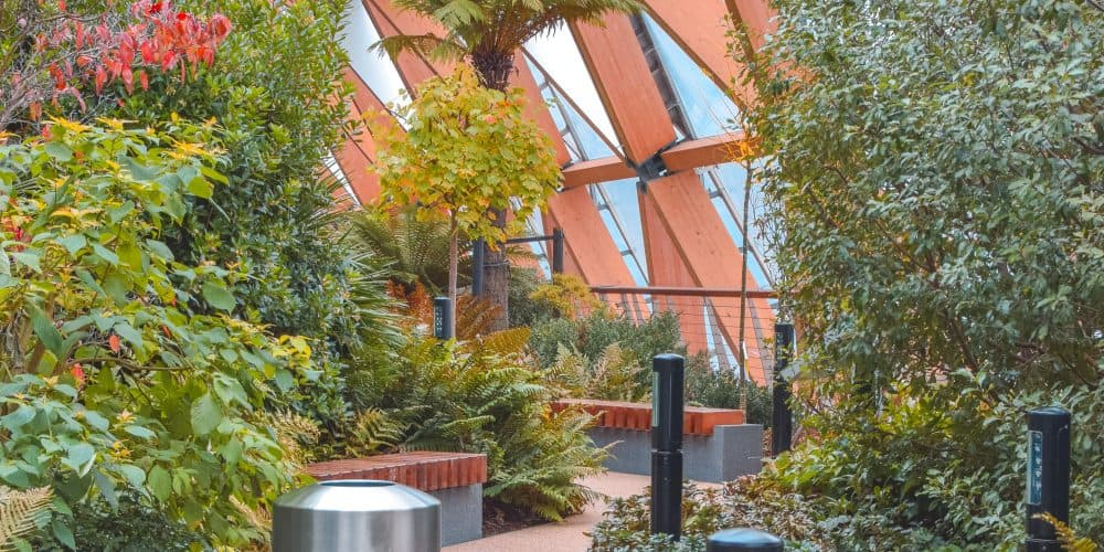 Things to do in Canary Wharf: Visit Crossrail Rooftop Garden