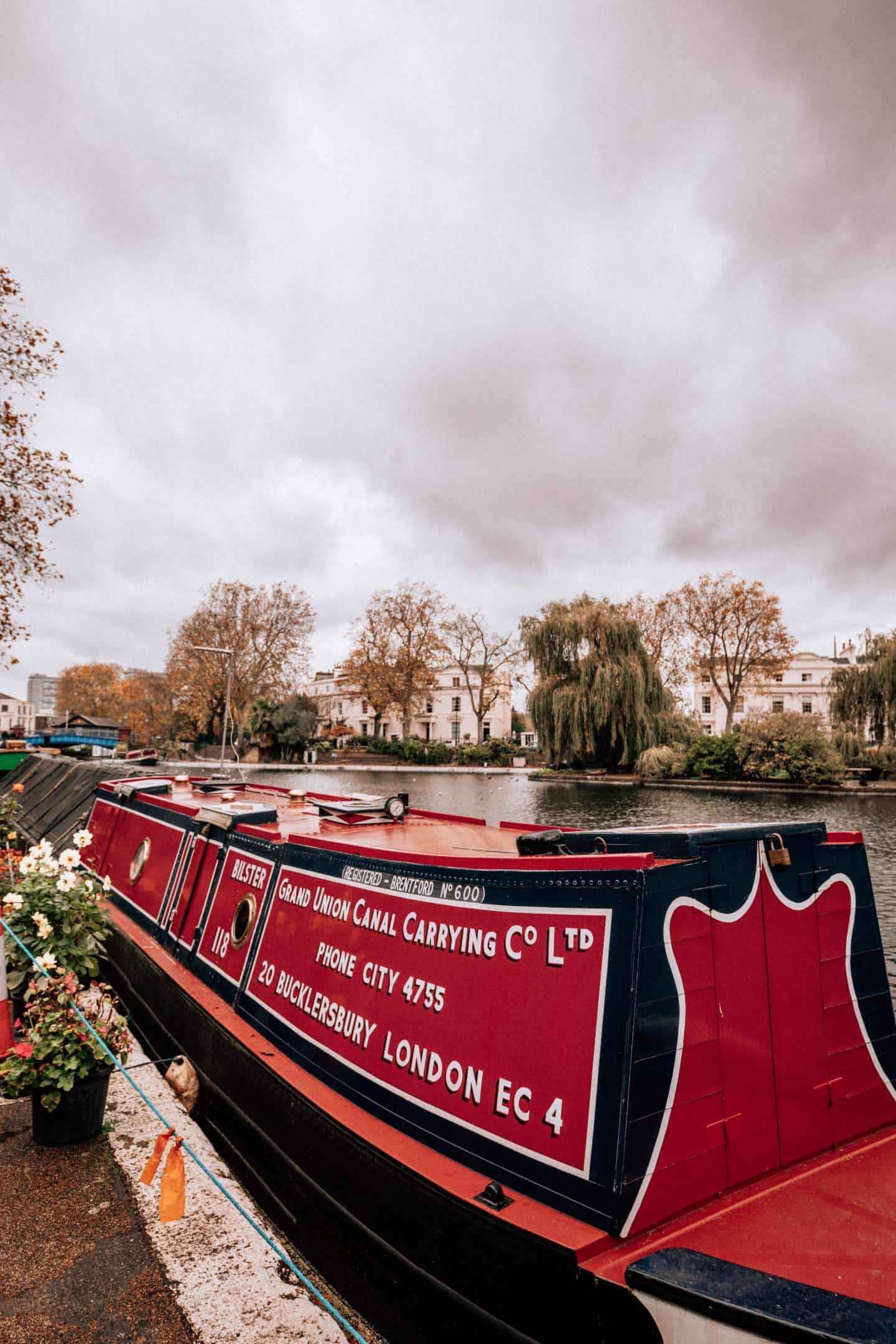 Red Canal Boat in Little Venice