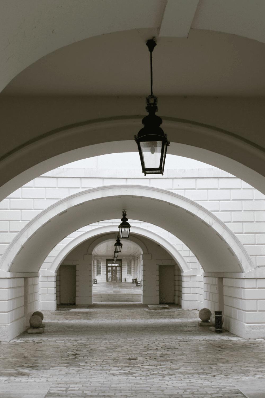 Bridgeton-filming-location-london-queen's house- colonnade